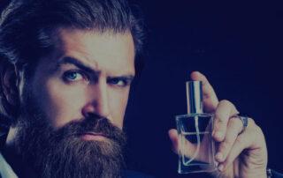 Mężczyzna z brodą i perfumy