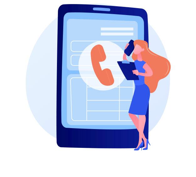 Kontakt - grafika ilustracyjna